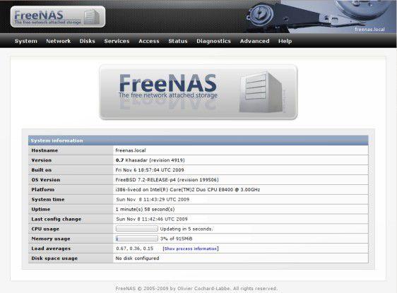 FreeNAS: Die kostenlose NAS-Lösung gibt ist in weniger als 10 Minuten einsatzbereit.