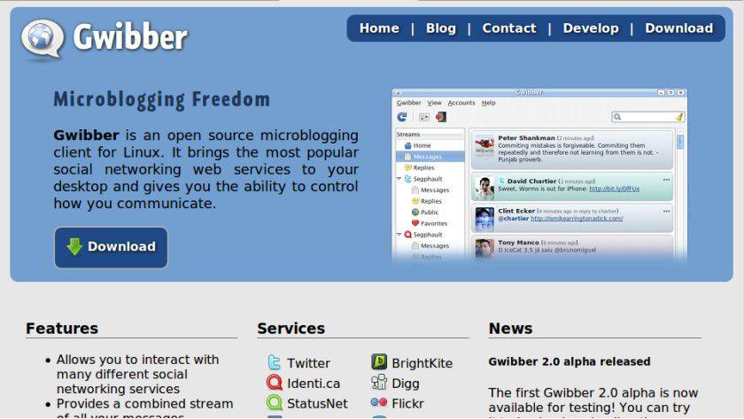 Soziale Netzwerke: Gwibber als Backend soll das Microblogging versüßen.
