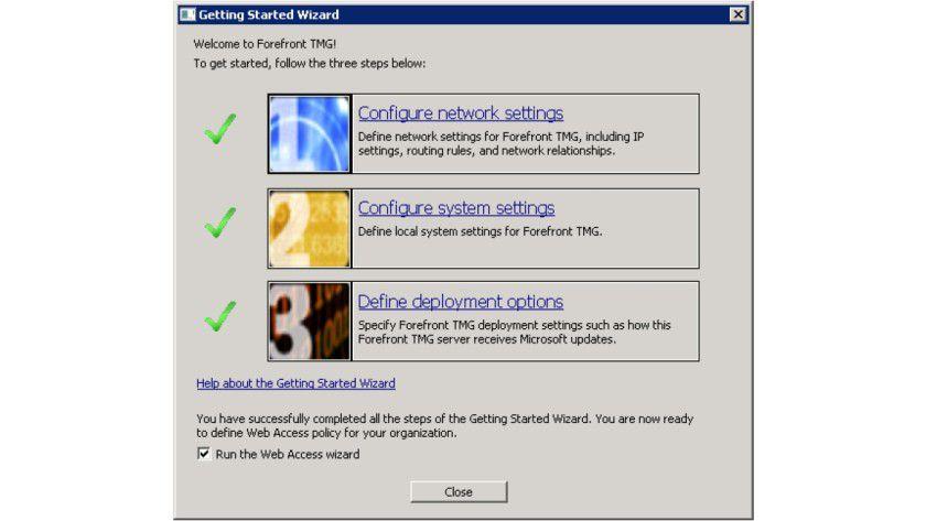 First Steps: Verschiedene Tools helfen dem Anwender bei der Erstinstallation des Programms.