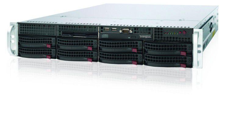 Rack-Version: Der 2-HE-große Server bietet Platz für zwei CPUs der Serie Xeon 5500 / 5600. (Quelle: transtec)