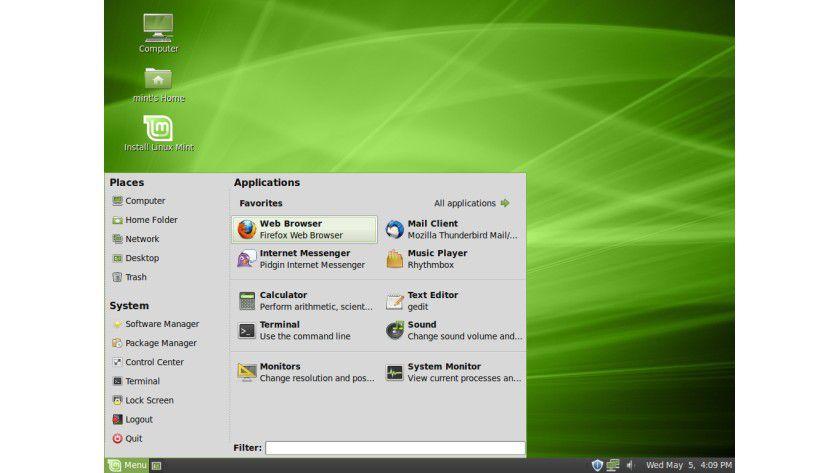 Release-Kandidat: Linux Mint 9 bringt viele neue und verbesserte Funktionen mit sich.