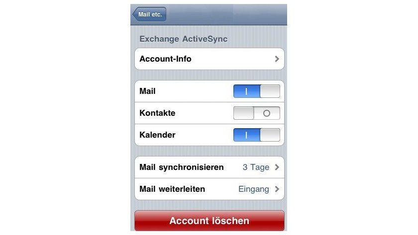 Geht auch: das Apple iPhone und Exchange ActiveSync.