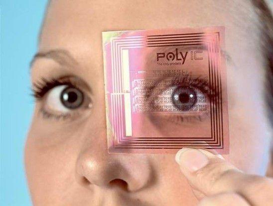 Für den besseren Durchblick - RFID-Chip aus einer Folie.