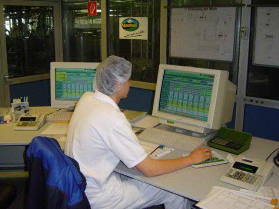 Leitstand in der Produktion von Alpenhain