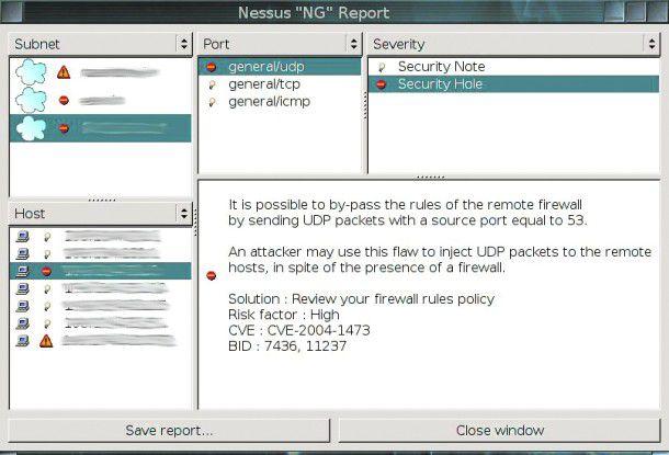 Nach Abschluss eines Sicherheits-Scans listet Nessus die ermittelten Schwachstellen in einem Report auf.
