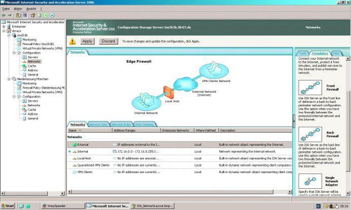 Die Auswahl der Netztopologie erfolgt anhand eines Schaubilds.