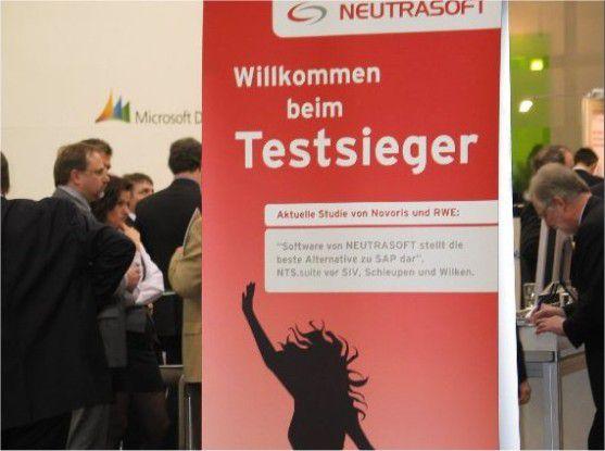 Einen aggressiven Werbeauftritt hatte Neutrasoft auf der CeBIT.