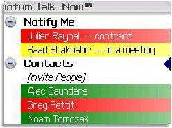 Ideal für Vieltelefonierer: Talk-Now soll Blackberry-Nutzer dabei helfen, einfacher mit ihren Kontakten zu kommunizeren.
