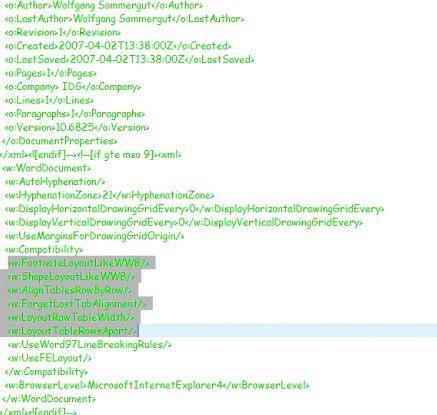 Office Open XML geht auf das Dateiformat von Office 2003 zurück, das anwendungsspezifische Eigenheiten codierte und eine etablierte Standards ignorierte.