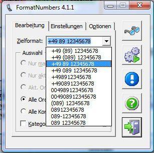 Das kostenlose Tool Formatnumbers beseitigt Schludrigkeiten in den Telefon- und Faxnummern der Outlook-Kontakte.