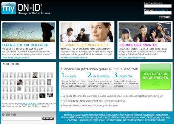 Die Website für die Imagepflege: myON-ID