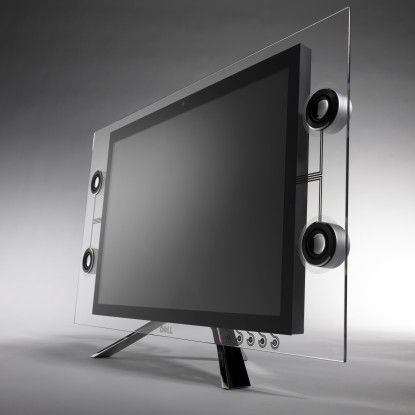 Wir können auch anders - Dells Designer entdecken ungeahnte Fähigkeiten und entwerfen den Crystal-Monitor.