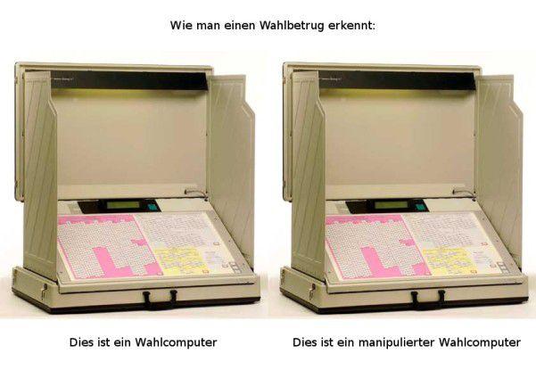 Laut Chaos Computer Club lassen sich manipulierte Nedap-Wahlcomputer von außen nicht erkennen. (Quelle: CCC)