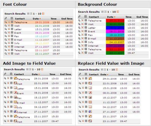 Durch farbliche Kennzeichnungen sollen sich CRM-Anwender leichter zurechtfinden. Zudem können Softwarenutzer Datensätze in Ansichten selbständig markieren.