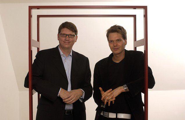 Niklas Zennström und Janus Friis, die Erfinder von Skype.