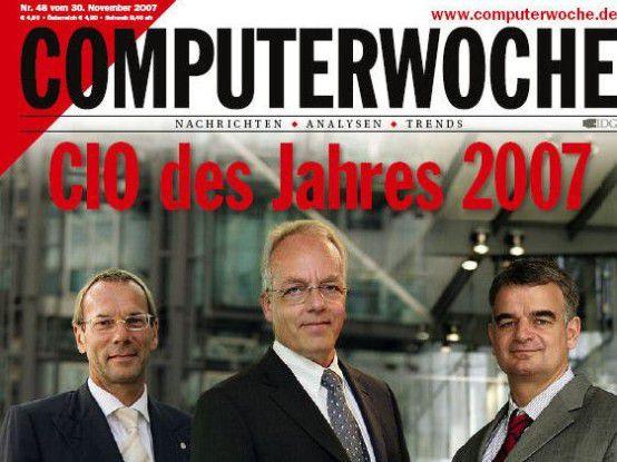 Wolfgang Gaertner, CIO der Deutschen Bank (Mitte) wurde 2007 Erster.
