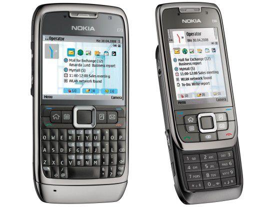 Neue Arbeitsgeräte aus Finnland: Nokia E71 und E66.