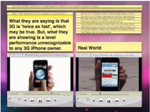 Vier mal langsamer als in der Werbung? iPhone-Video bei Youtube