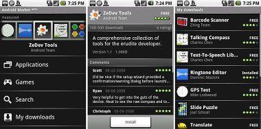 Android Market: Screenshots zeigen wie er aussieht