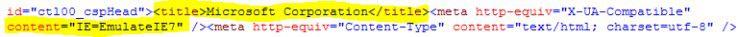Microsoft selbst bereitet seine Website für den IE 8 vor, indem sie in den Kompatibilitätsmodus des IE-7 geschaltet werden.