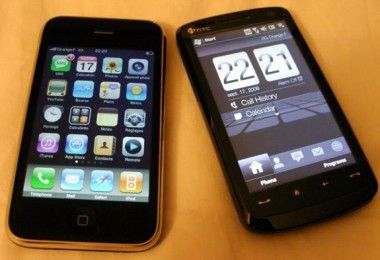 HTC Touch HD im Vergleich mit dem iPhone