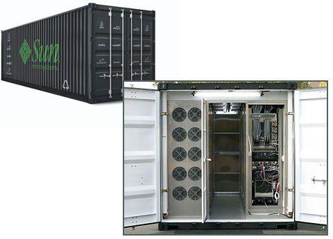 Auch Sun steigt mit seinem 'Modular Data Center' voll ins Containergeschäft ein.