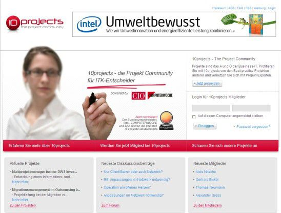 Treffpunkt von IT-Managern: Die Projekt-Community 10projects.de