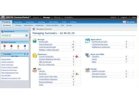 Veritas CommandCentral Storage soll Unternehmen bei der optimalen Ausnutzung bestehender Speicher-Ressourcen helfen.