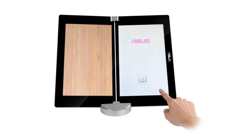 Multifunktional: Das Klapp-Notebook kann wie ein Buch oder fast wie ein normales Notebook benutzt werden.