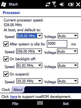 Mit nueDynamicClock sinkt die Taktzahl, wenn weniger Rechenleistung benötigt wird.