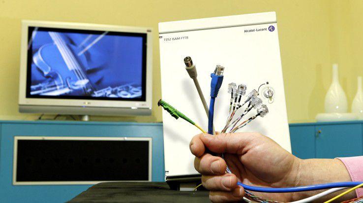 Über die Glasfaser erfolgt nicht nur der Internet-Zugang, sondern auch die Übertragung von TV und Telefon.