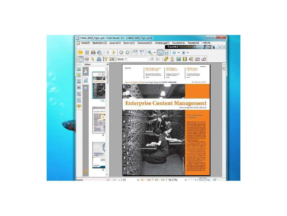 Alternative Tools zu Adobe Reader: PDF-Bearbeitung mit Foxit -  computerwoche.de