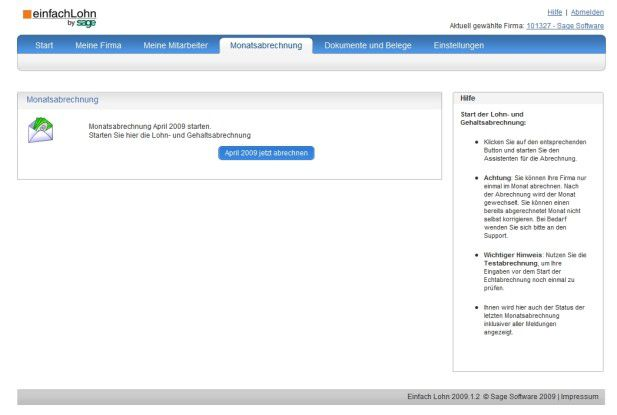 einfachLohn von Sage lässt sich komplett im Browser bedienen.