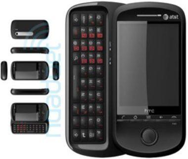 Mit seitlicher Volltastatur: HTC Lancaster mit Android-Betriebssystem.