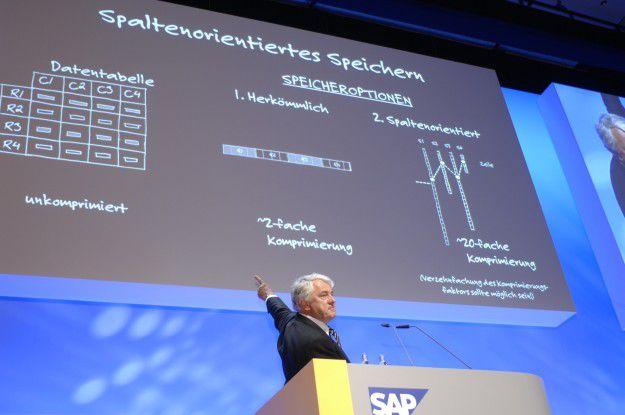 Im Gegensatz zu satzorientierten Datenbank (links auf dem Schaubild) bieten spaltenorientierte Datenbankverfahren einige Vorteile in Sachen Speicherauslastung und Geschwindigkeit.