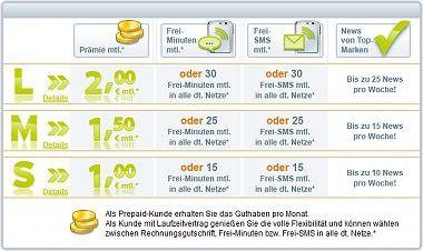 Gettings zahlt für den Empfang von Handy-Werbung.