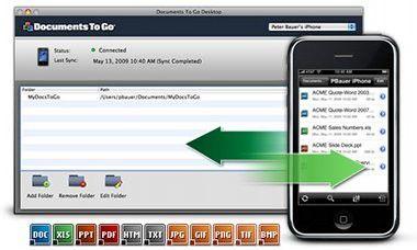 Mit der Docs-to-Go-Version Exchange Attachments können Nutzer Word Anhänge von E-Mails bearbeiten und versenden.