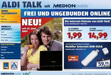 Aldi Talk: 24-Stunden-Flatrate für 1,99 Euro.