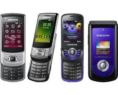 Samsung: drei neue Slider und ein Klapphandy angekündigt.