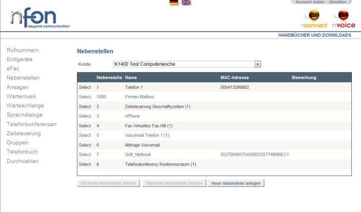 Die Konfiguration der Anlage erfolgt über ein Web-Portal.