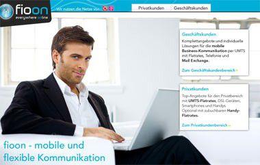 fioon: UMTS-Datenflatrate und E-Mail-Service aus einer Hand.
