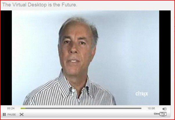 """""""Die Desktop-Virtualisierung wird in Zukunft die Art und Weise, wie wir arbeiten und leben, revolutionieren"""", sagt Citrix-President und CEO Mark Templeton in seiner Videobotschaft."""