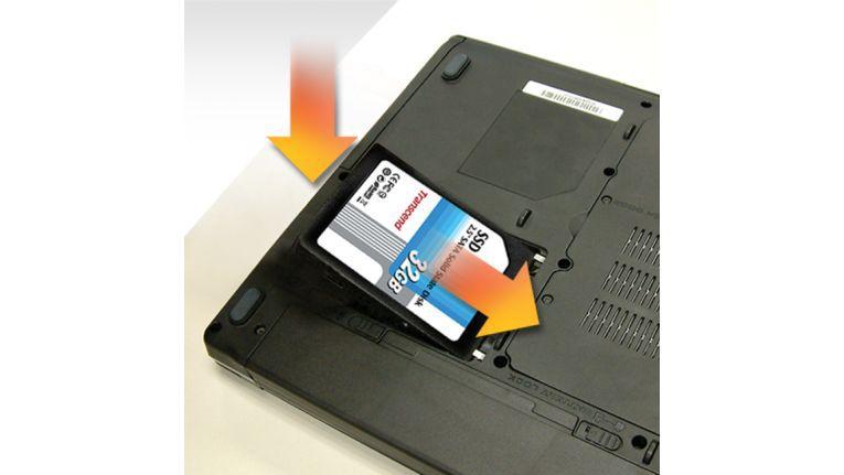 SSDs lassen sich leicht in Notebooks ein- oder ausbauen.