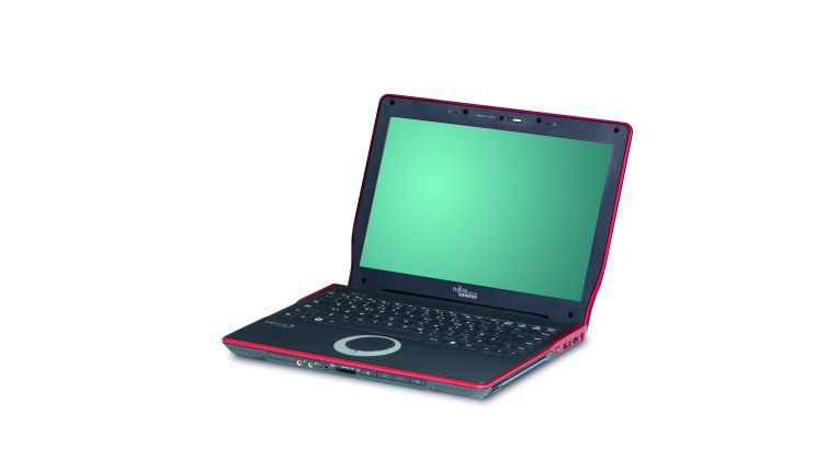 Das neue grüne Consumer-Notebook Amilo Si2636 verfügt über rote Akzente.