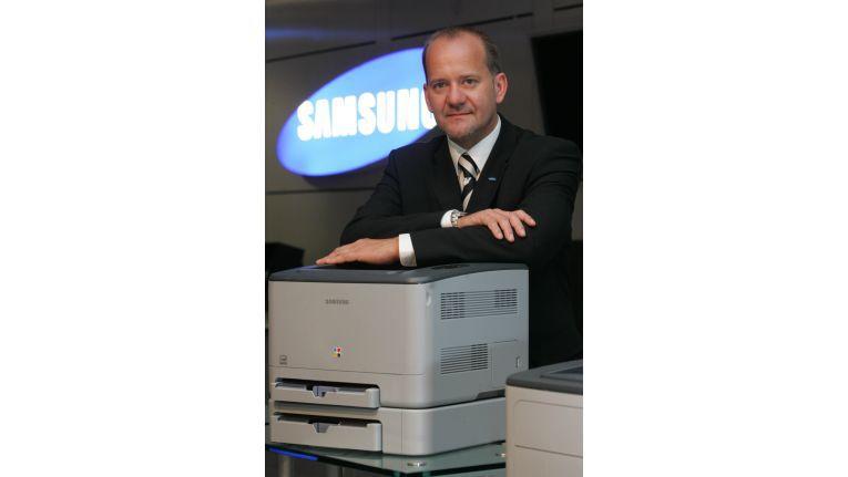Samsung ist bei vielen Systemhäusern kein Thema, sagt Jürgen Krüger, Director Sales&Marke-ting Printing Division bei Samsung.