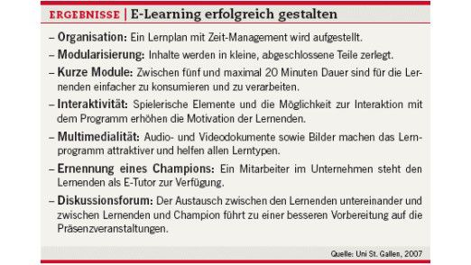 E-Learning richtig gestalten.