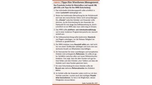 Acht Tipps fürs Warehouse Management.