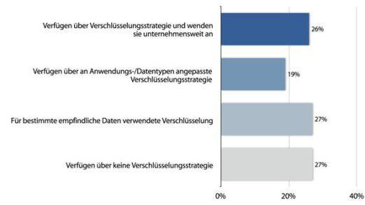 Die meisten deutschen Firmen verschlüsseln ihre Daten.