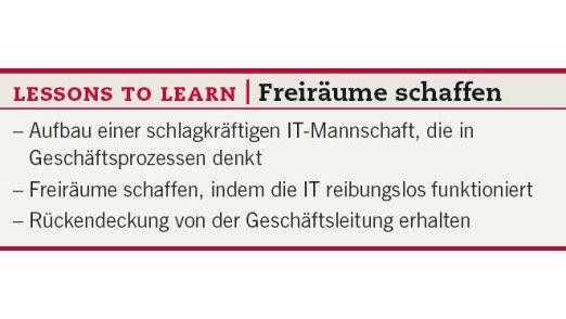 Lessons to learn: Freiräume schaffen.