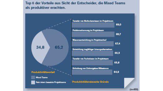 Entscheidungsträger, die gemischte Teams für produktiver halten, sehen vor allem produktivitätsrelevante Aspekte.